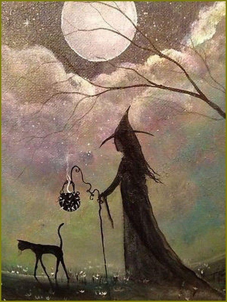 Halloween et sorcières en peinture et illustrations -  Terri Ann Foss -sorcières