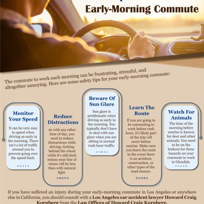 Some Important Safety Tips for Your Early-Morning Commute