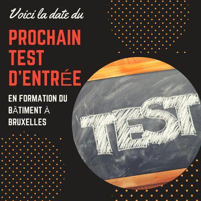 Voici les dates des prochains tests d'entrée en formation construction à Bruxelles