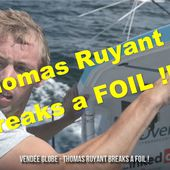 Vendée Globe 2020-2021 - Thomas Ruyant (LinkedOUT) breaks a foil - Yachting Art Magazine