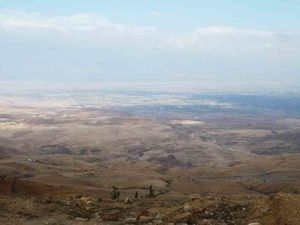 C'est de là que Moïse a vu la Terre promise. Ph. Delahaye.