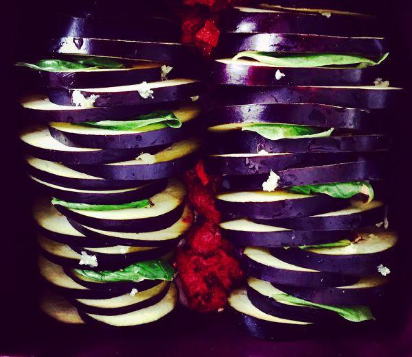 Tian d'aubergines au basilic gratiné