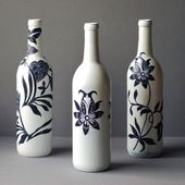 Recycle a Wine Bottle into a Beautiful Work of Decoupaged Art