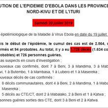 RDC : point sur Ébola au 19 juillet 2019
