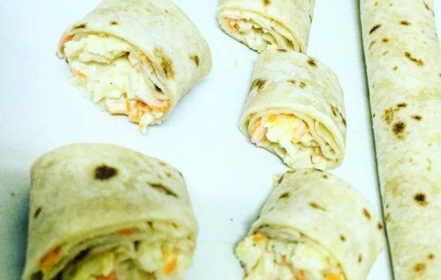 Mini wraps apéritif au surimi