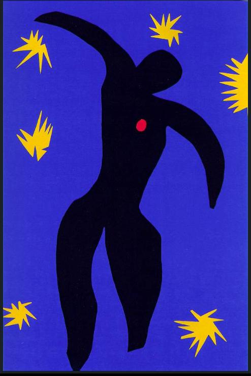"""HM Roman page 469 """"Icare (fond bleu)"""" 1943, Jazz 1947"""