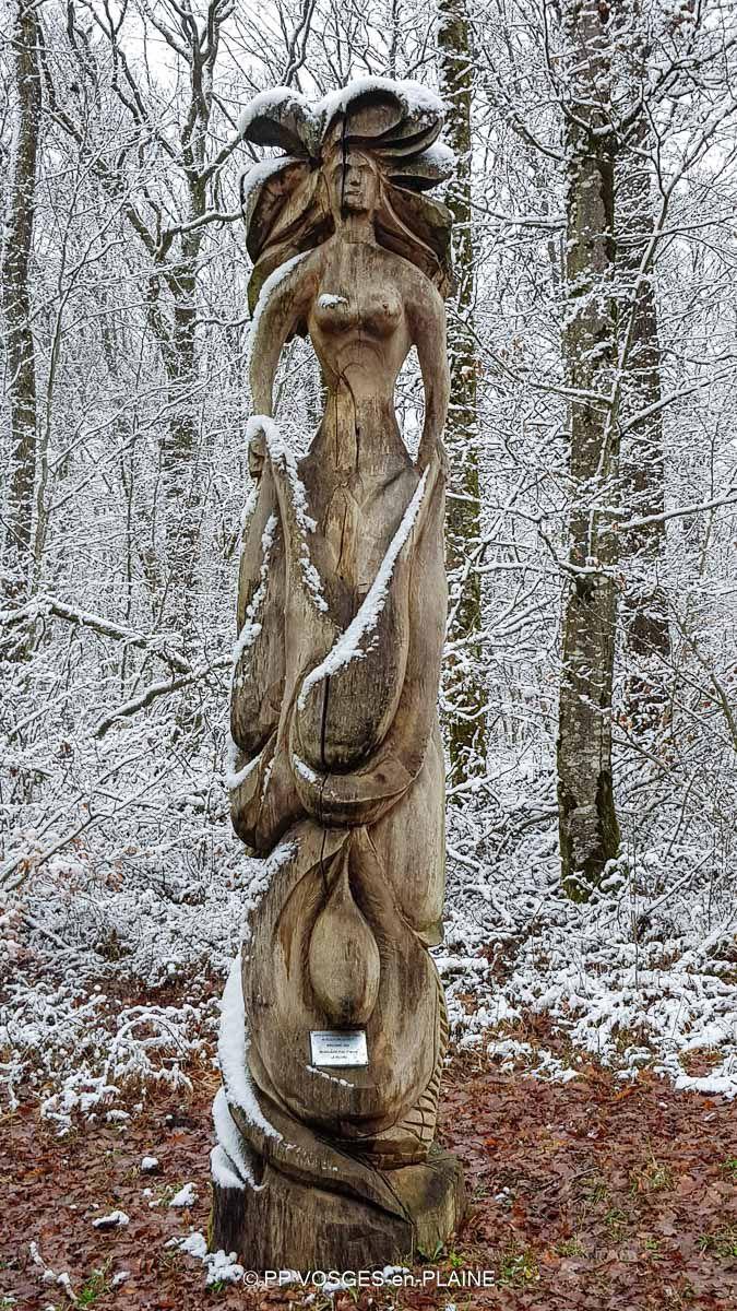 De MIRECOURT aux statues du Bois de la Fontaine aux Moines