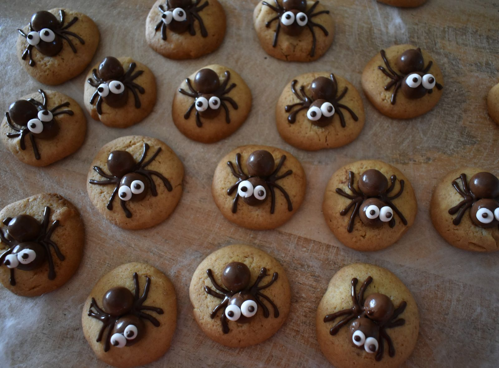 Spiders cookies pour Halloween