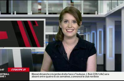 2013 11 26 - 06H40 - ELODIE POYADE - L'EQUIPE 21 - LE JOURNAL
