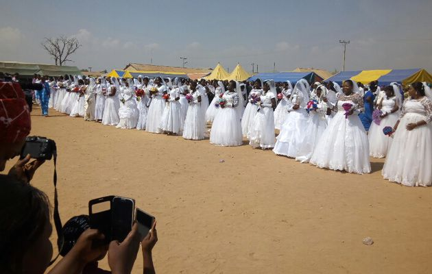 AWUUF EHH? || The Mass wedding that was held in Abuja suburb attacked twice by Boko Haram.