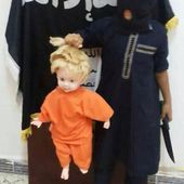 Muslim toddlers being taught to admire Jihad by practicing beheading on their dolls