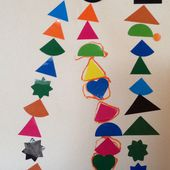 Un tableau en gommettes simple mais harmonieux (réalisé par deux enfants de maternelle) - Le blog de fannyassmat, le quotidien d'une assistante maternelle en mille et une anecdotes