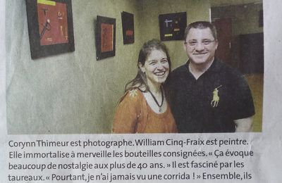 William expose au restaurant du lycée Pardailhan...