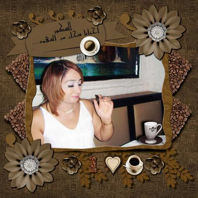 Page Scrapbooking par Fathia Nasr : For the love of coffee - Pour l'amour du café