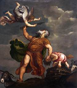 Following St Augustine's and St Paul's suggestion, Isaac is seen as an image for Christ's own sacrifice. The supreme acceptance of Abraham is the equivalent of justification by faith.