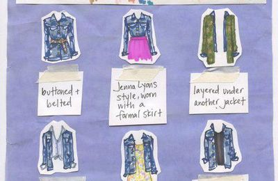 How to wear a jean jacket/Comment porter une chemise en jean.♥