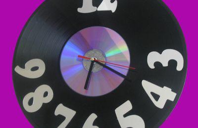 Horloges vinyls
