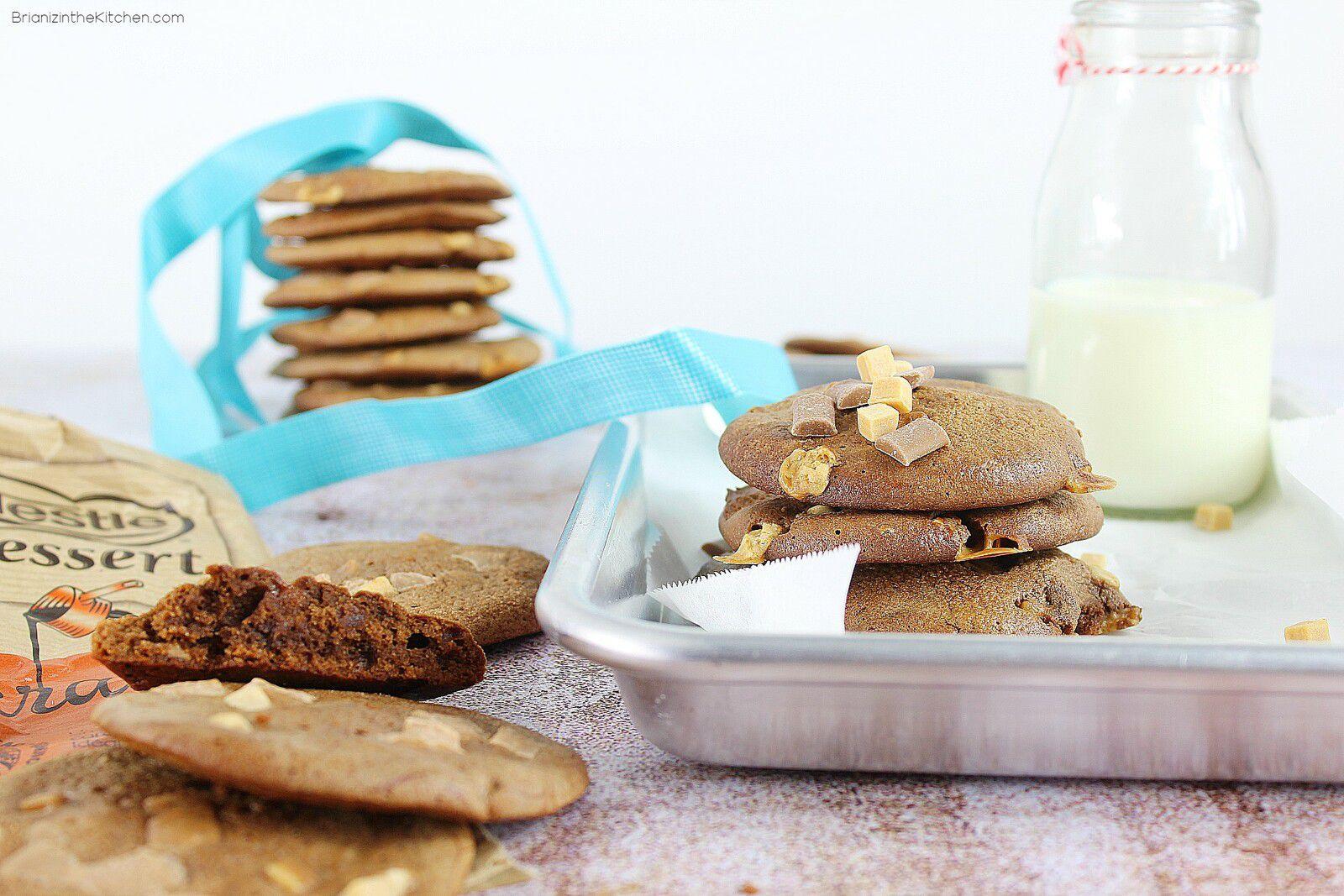 Cookies Brownies au Chocolat Caramel
