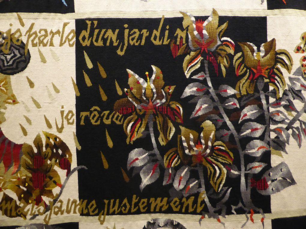 tapisseries de Lucien Coutaud, Jean Lurçat, Sonia Delaunay, Pablo Picasso © Le Curieux des arts Gilles Kraemer, présentation presse mai 2015, musée Jean Lurçat et de la tapisserie contemporaine, Angers