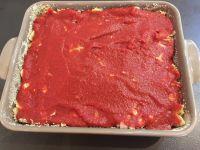Gratin de pâtes au poulet, tomate et origan