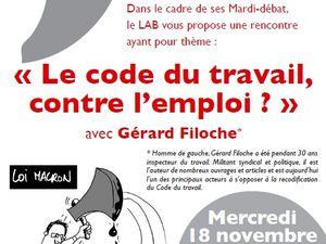 Mercredi 18 novembre : Gaëtan Gorce et Gérard Filoche dans le Val-d'Oise