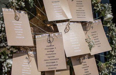 Les options de mariage d'Alexia & Sylvain ... thème guinguette champêtre