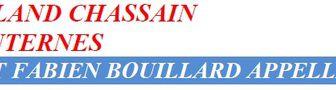 C. JUGLARET et F. BOUILLARD appellent à voter Roland CHASSAIN