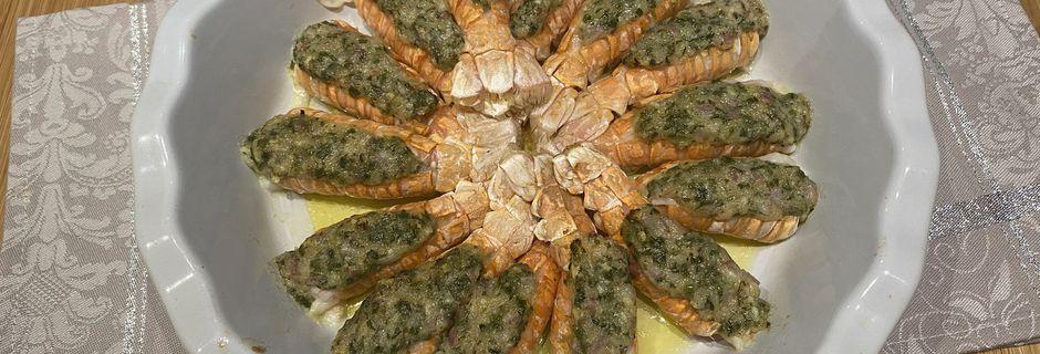 Langoustines au beurre à l'ail