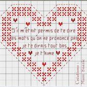 Cœur à broder Saint Valentin 2018 : Cœur au Cygne suite - Chez Mamigoz