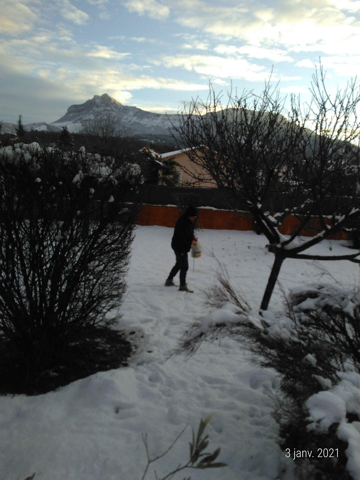 Neige sur Sisteron