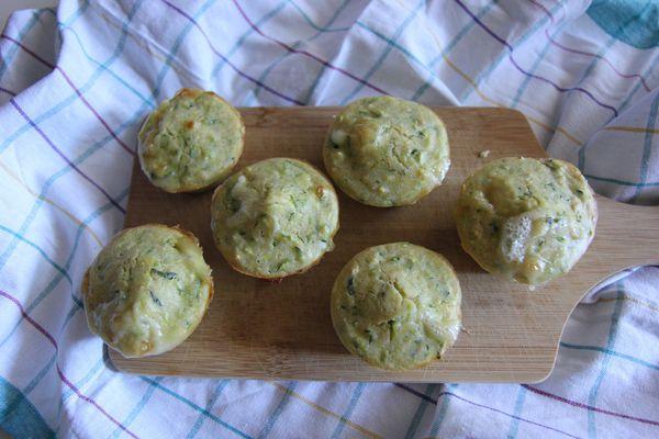 Muffins salés courgettes et comté