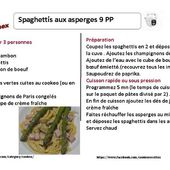Fiche recette cookeo : spaghettis aux asperges weight watchers |