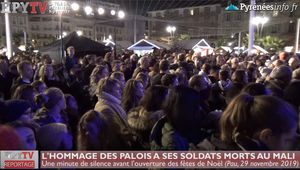 L'hommage des Palois à ses soldats morts au Mali (29 nov 19) | La Télé de Pau