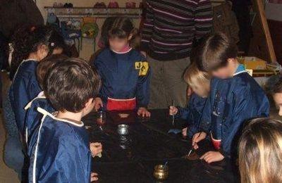 Marché de Noël 2009 : les ateliers à l'école maternelle