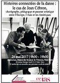 Histoires connectées de la danse : le cas de Jean Cébron - Maison des Sciences de l'Homme Paris Nord