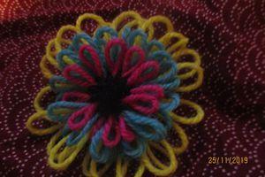 Fleur à trois étages de pétales mini métier à tisser des fleurs