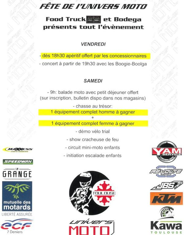 Fête de l'UNIVERS MOTO les 4 et 5 octobre