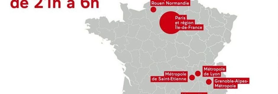 CARTE - Où le couvre-feu va-t-il s'appliquer en France ?