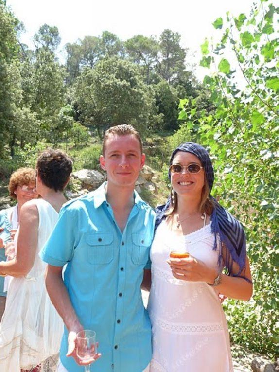 la première semaine de vacances à Montpellier avce Seb & Laeti (+ leur tribu) et les parents : abbaye de Valmagne avec les amis Australiens + aqualand + accrobranche + repas d'anniversaire & baptême!