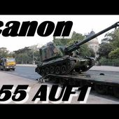 Armée de terre : déchargement du canon 155 AUF1