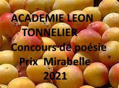 Relais du 54 - Poésie - Le règlement du concours bisannuel de l'Académie Léon Tonnelier : le prix Mirabelle 2021