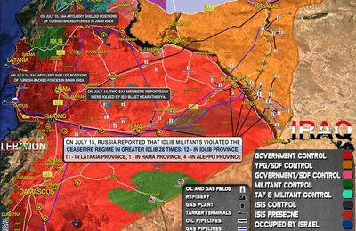 Situation militaire en Syrie au 15.07.21 (Southfront)