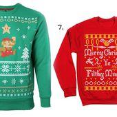 Sélection de pulls de Noël aux couleurs de la pop culture