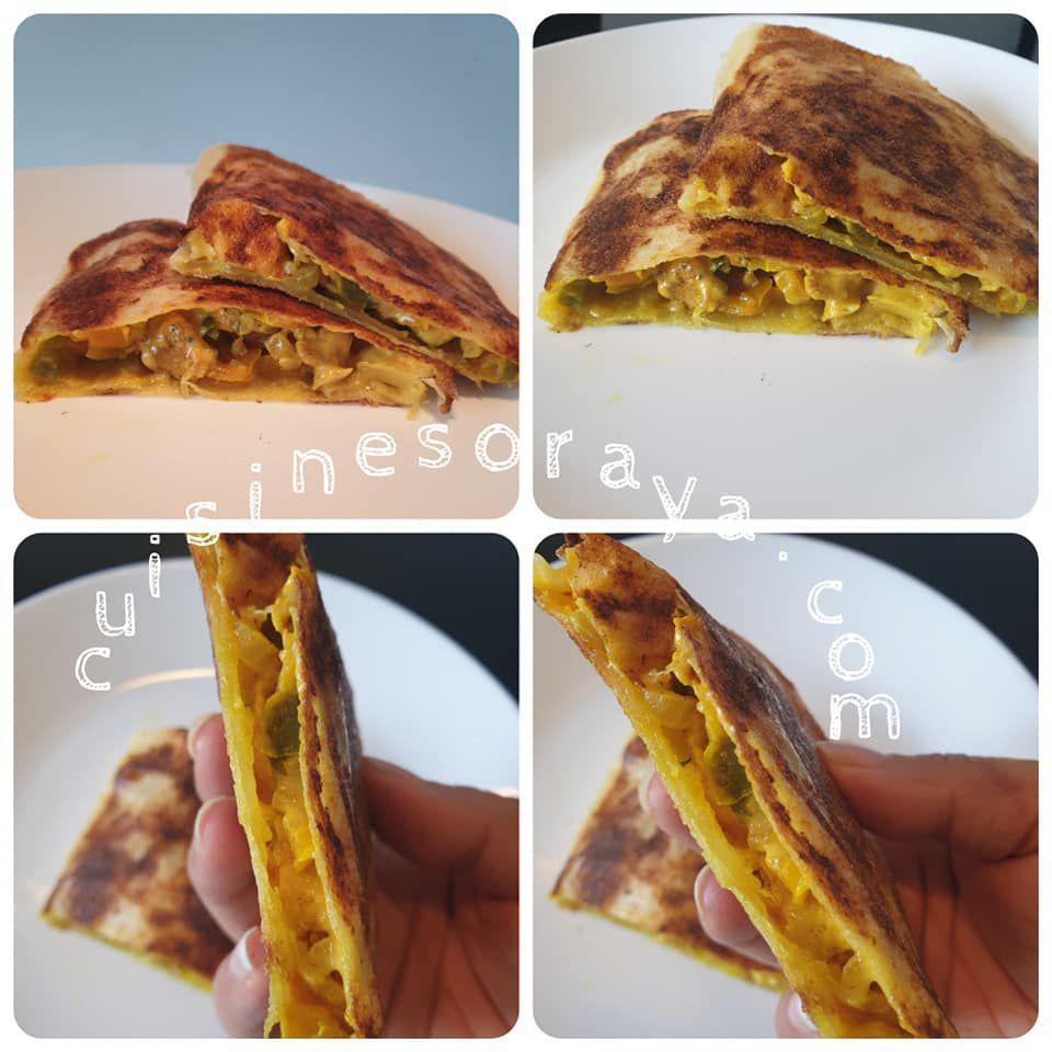 Brick poulet façon Mhajeb express