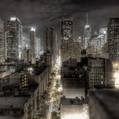 Fond d'ecran La ville la nuit - Bureau 516 - Wallpaper