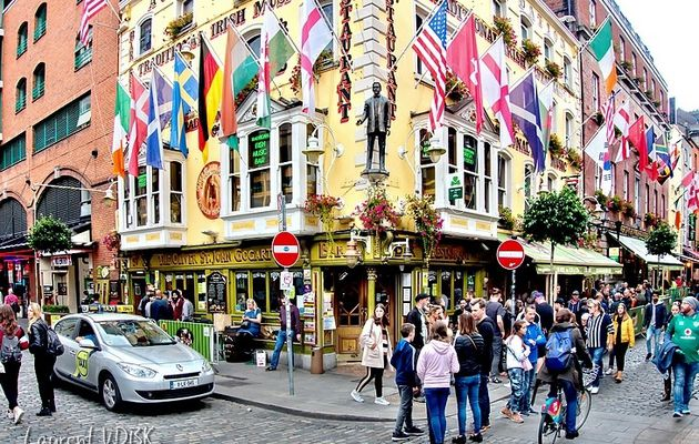 Irlande, Dublin : Le quartier de Temple Bar
