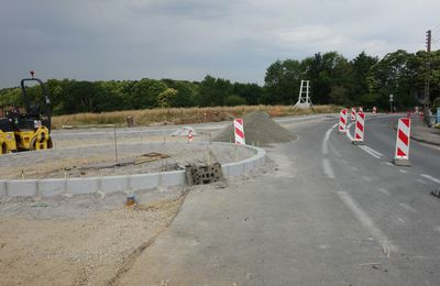 L'avancement du chantier du rond-point de Kervalguen