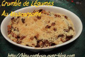 Crumble de Légumes d'Automne au Mascarpone