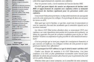 MUTATIONS : mouvement INTER 2018 Dossier spécial !