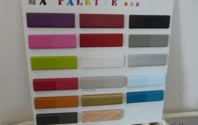 Ma palette de couleur...
